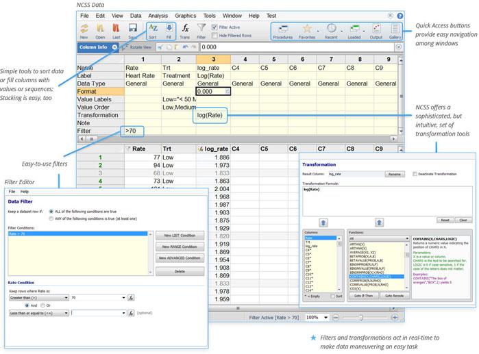 NCSS Intuitive Data Management