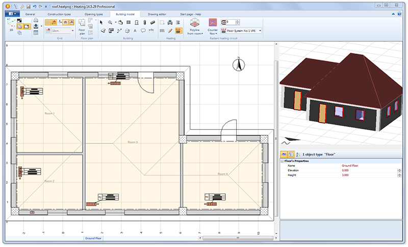 Ti-Soft Heating Design EASY MODELING OF THE BUILDING GEOMETRY