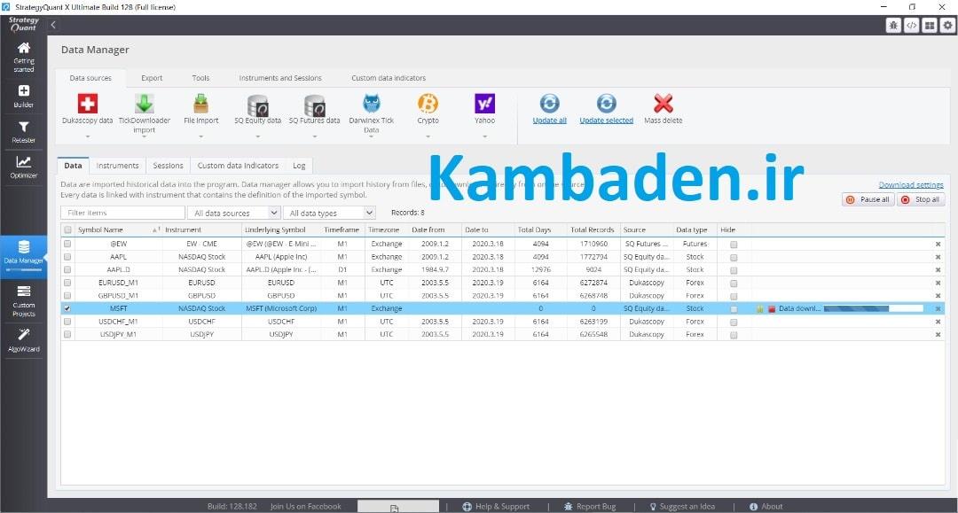 دانلود کرک نرم افزار استراتژی کوانت StrategyQuant x Ultimate build 128